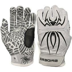 Spiderz 2020 Hybrid Baseball/Softball Batting Gloves - Grey/