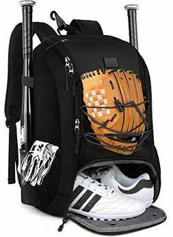 MATEIN Baseball Backpack, Softball Bat Bag with Shoes Compar