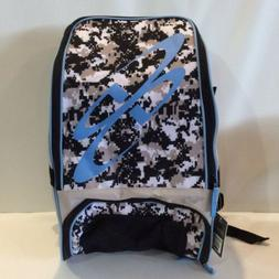 Boombah Baseball Softball Bat Bag Backpack Light Blue & Camo