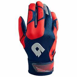 DeMarini CF Men's Baseball/Softball Batting Gloves - Navy/Sc