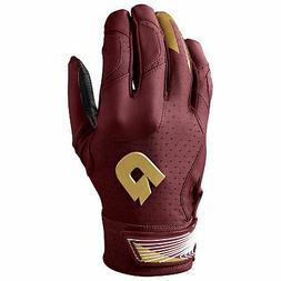 DeMarini CF Men's Baseball/Softball Batting Gloves - Maroon