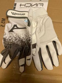 finch batting gloves white gray womens xl