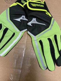 Mizuno Finch Green Black Batting Gloves Womens Large Softbal