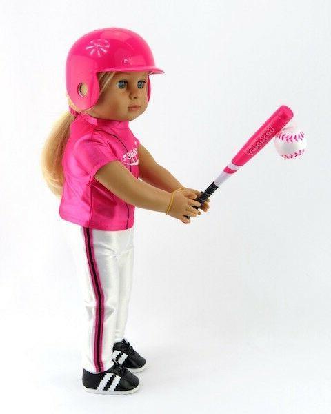 3 pc pink baseball softball bat ball