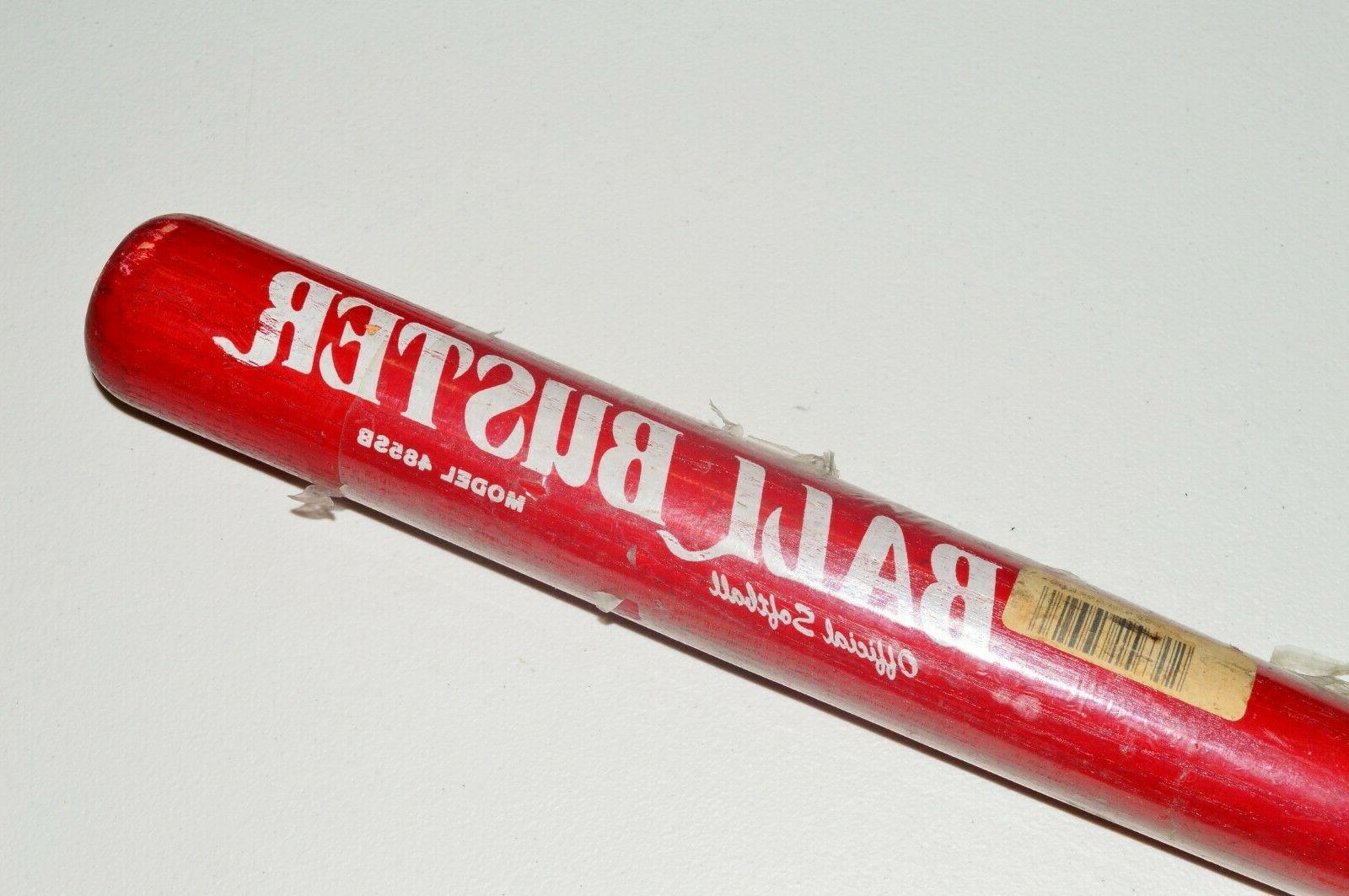 ball buster wood softball bat 485sb red