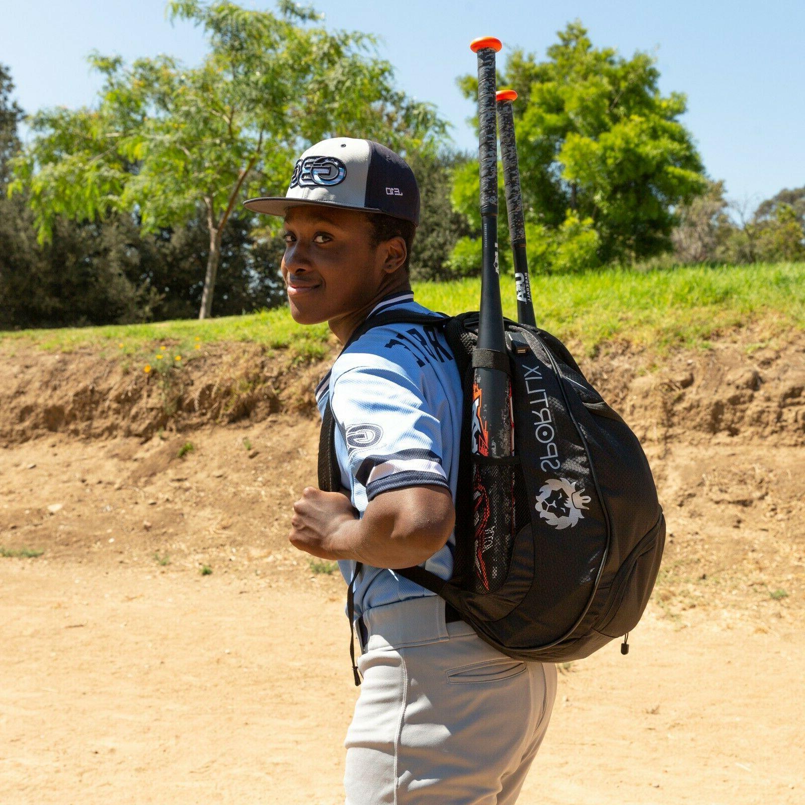 Baseball Backpack   Black Youth Adult