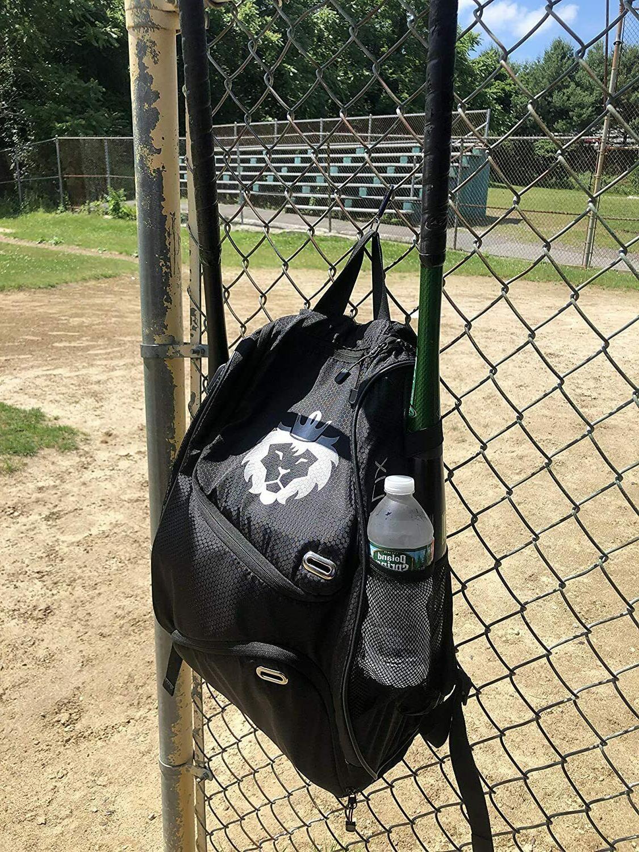 Baseball Bat Bag   Black Bag w/ Youth Adult