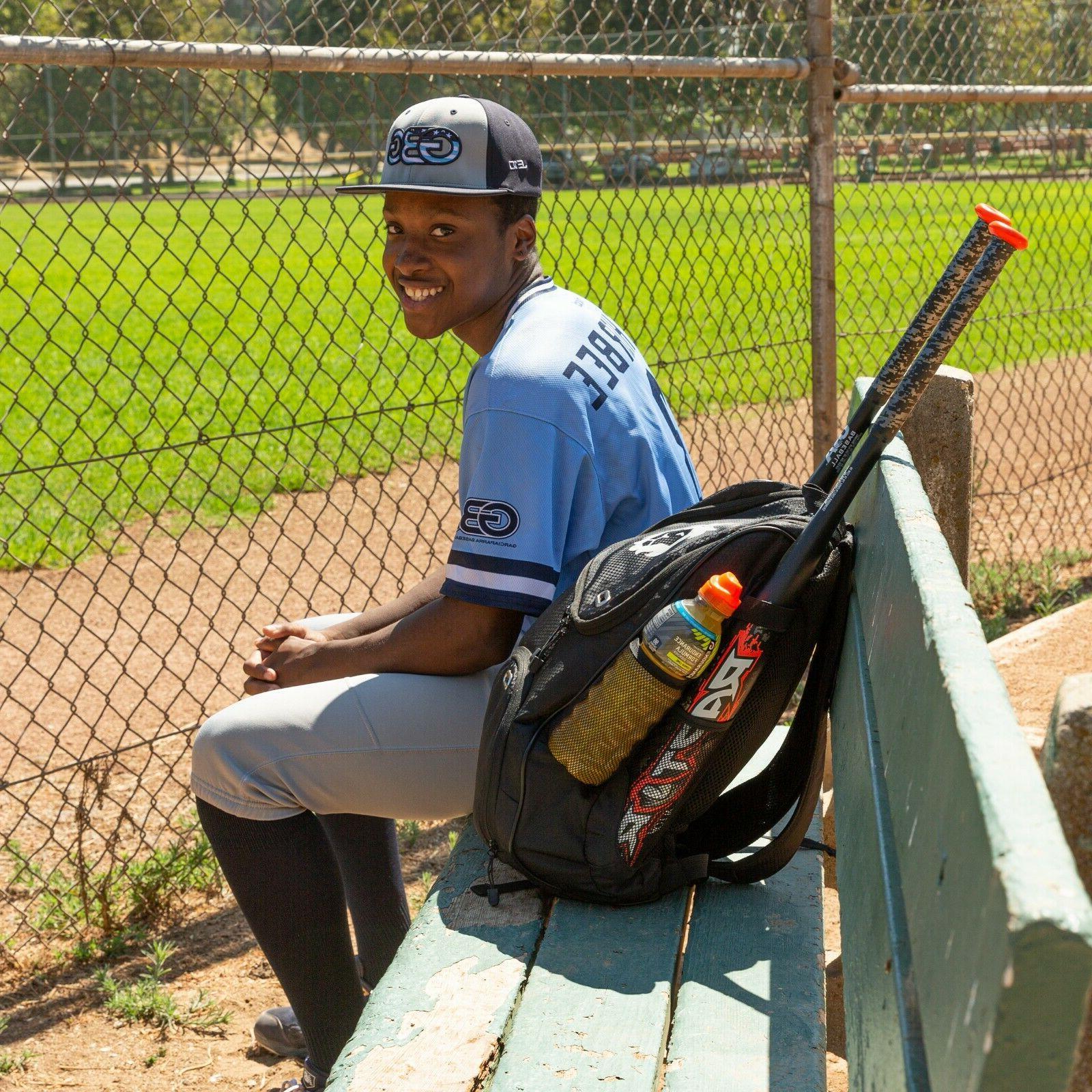 Baseball Backpack Bat Bag   Bag USB Youth &