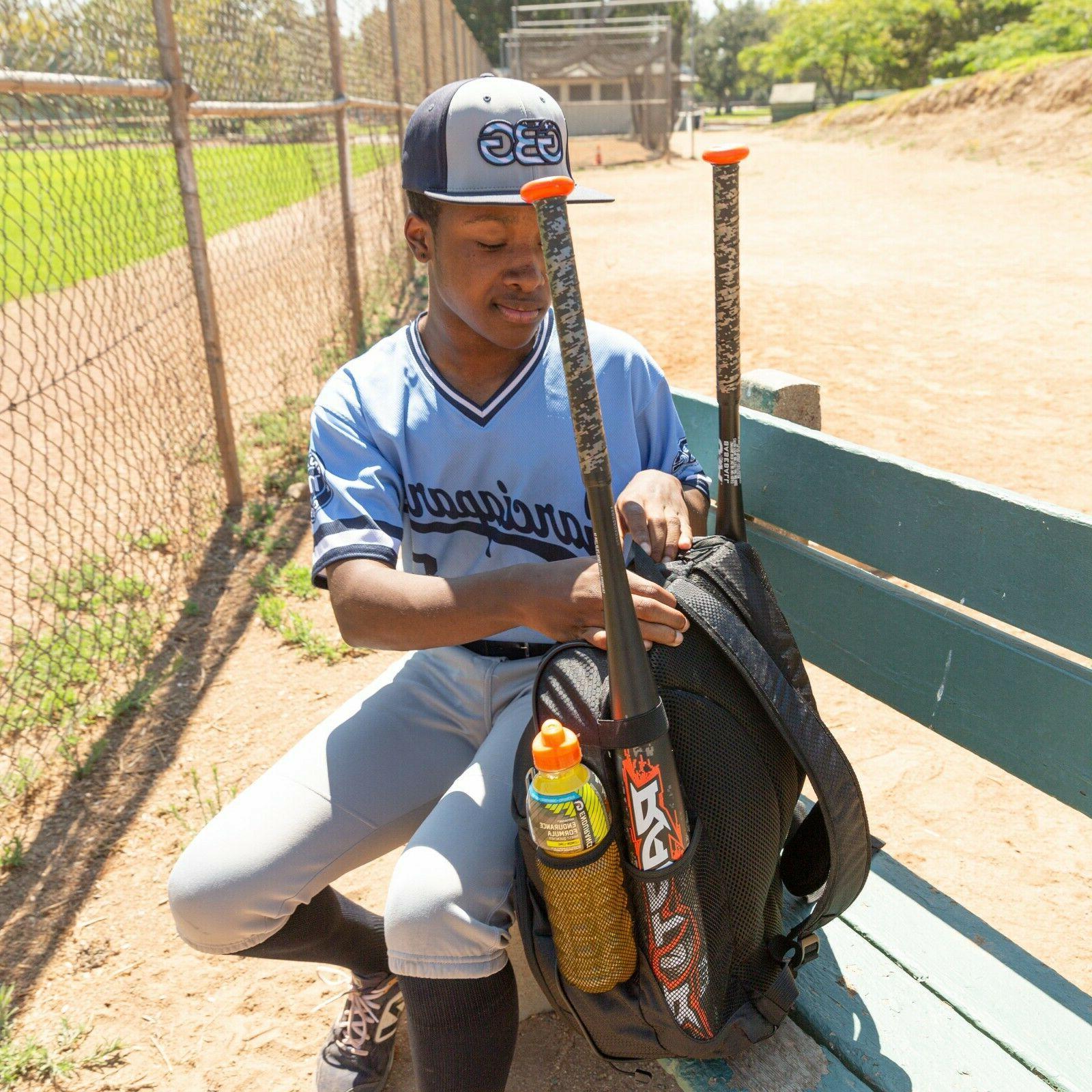 Baseball Backpack Bat   Black Softball Bag Youth
