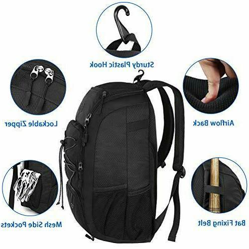 MATEIN Baseball Softball Bat Bag with Compartment for