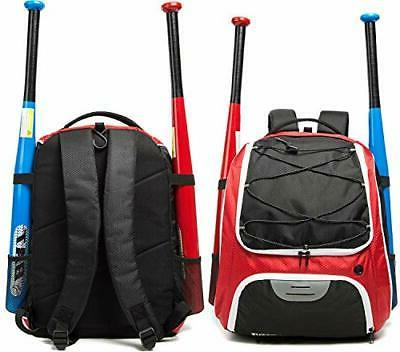 Baseball Backpack and Adults, Bat with Sh