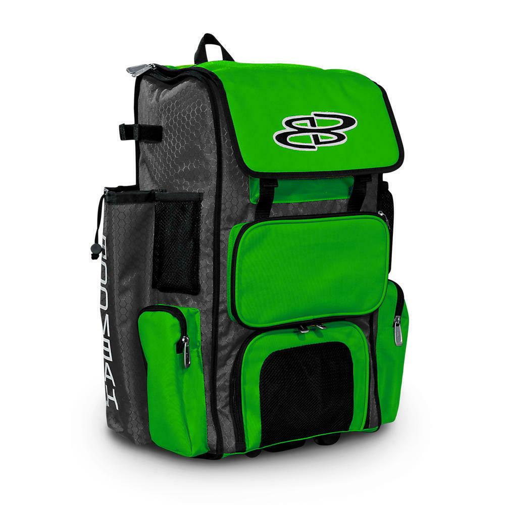 rolling wheeled superpack baseball softball bat bag