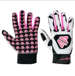 Prime Three Batting Gloves Baseball/Softball - White/Black/P