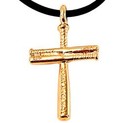 Softball Bat Cross Necklace SMALL Rose Gold  NWT