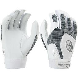 Rawlings Storm Fastpitch Softball Batting Gloves - White - L