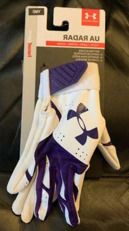 Under Armour Girls' Radar Softball Batting Gloves Youth Med