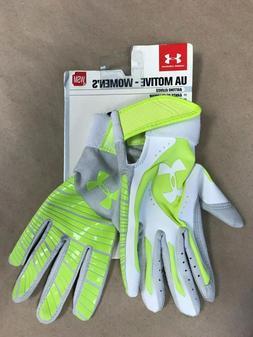 Under Armour Women's Motive Softball Batting Gloves, Green S
