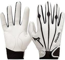 Mizuno Youth Vintage Pro Batting Gloves, White, Small
